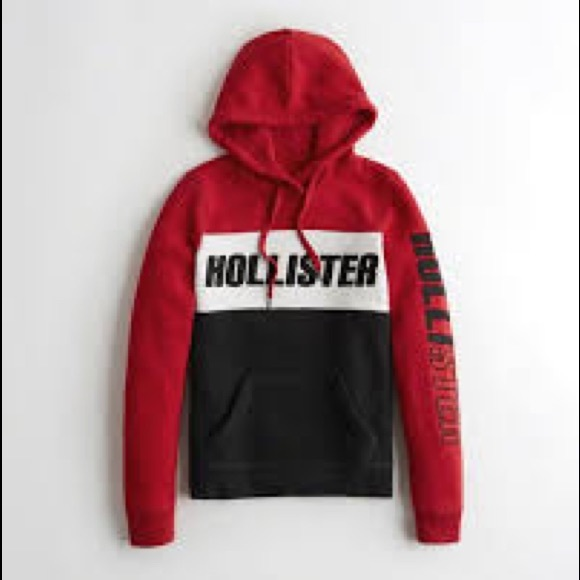 Red Hollister Womens Hoodies